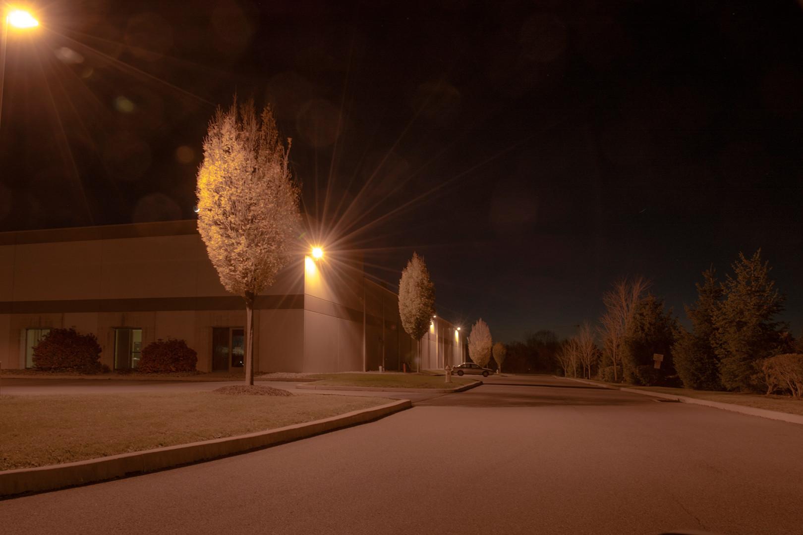 factory night photo noir