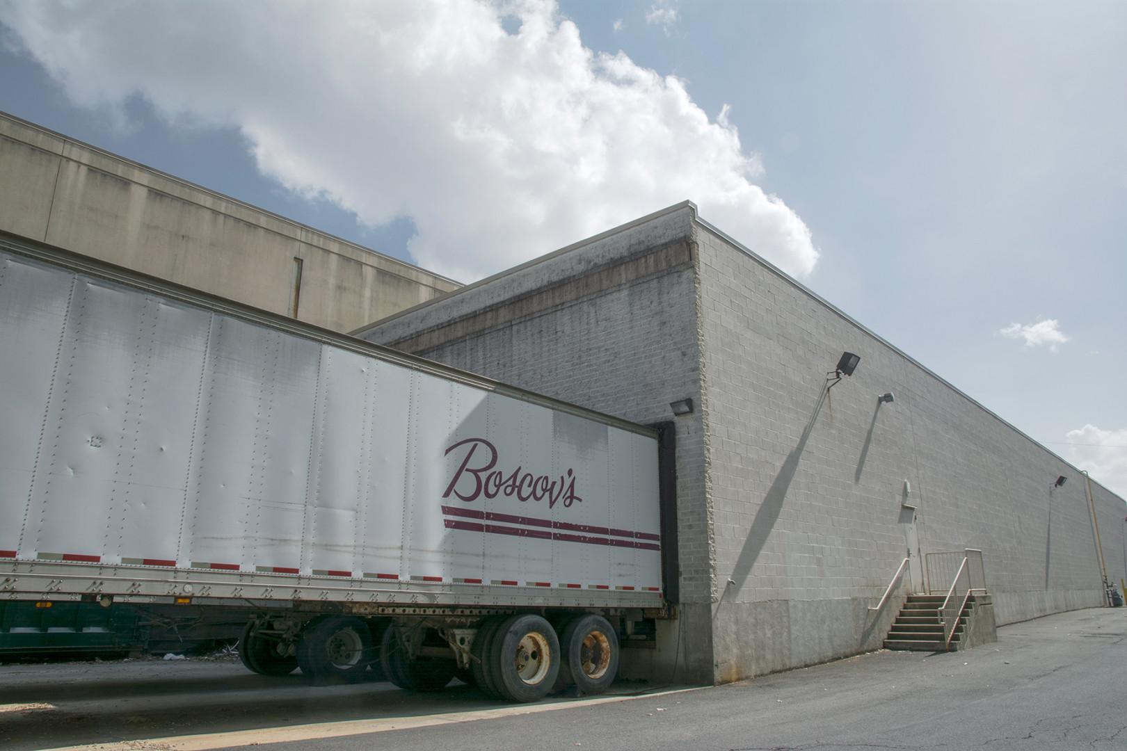 A Boscov truck unloading