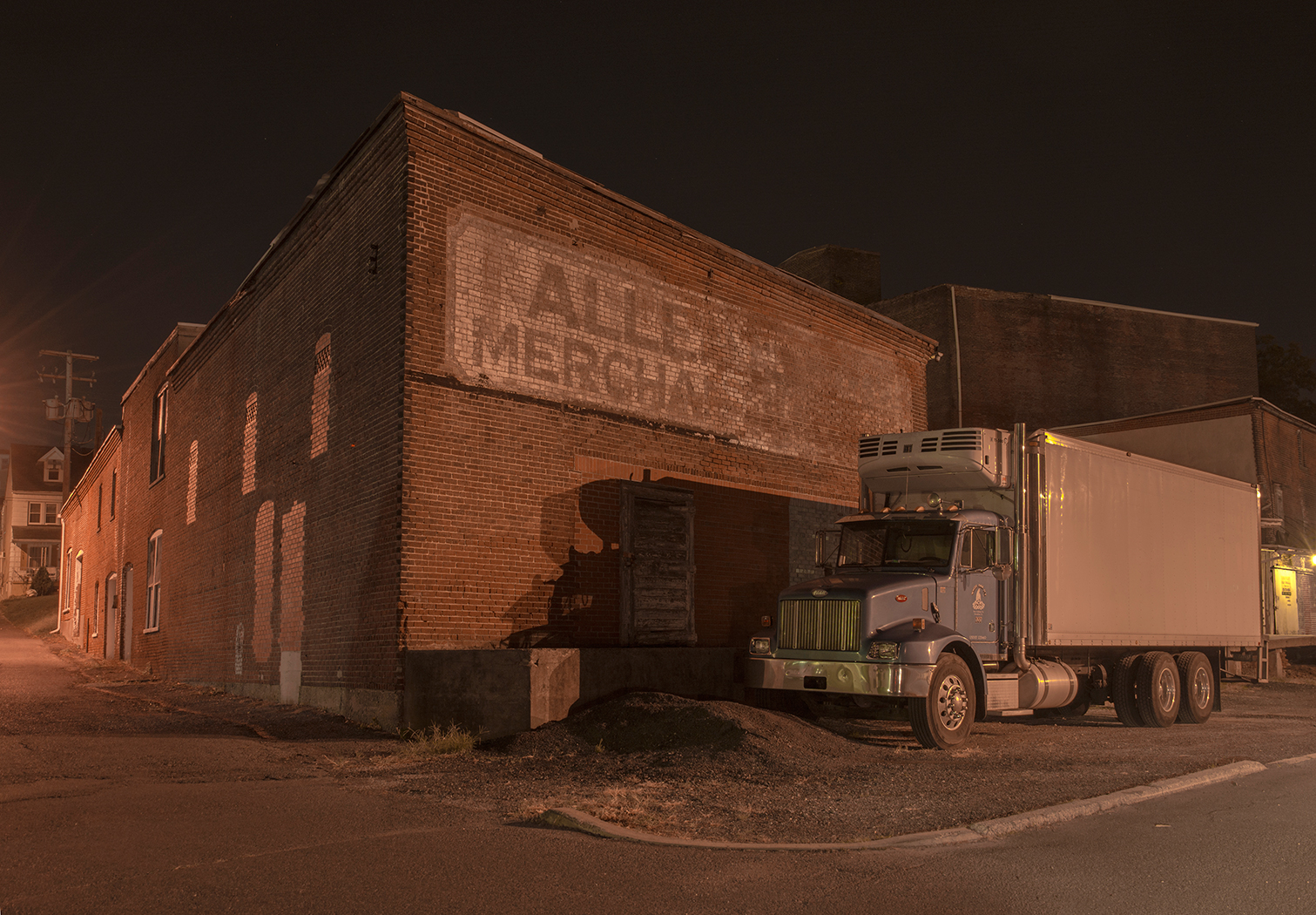 warehouse,night,long exposure,easton,pennsylvania