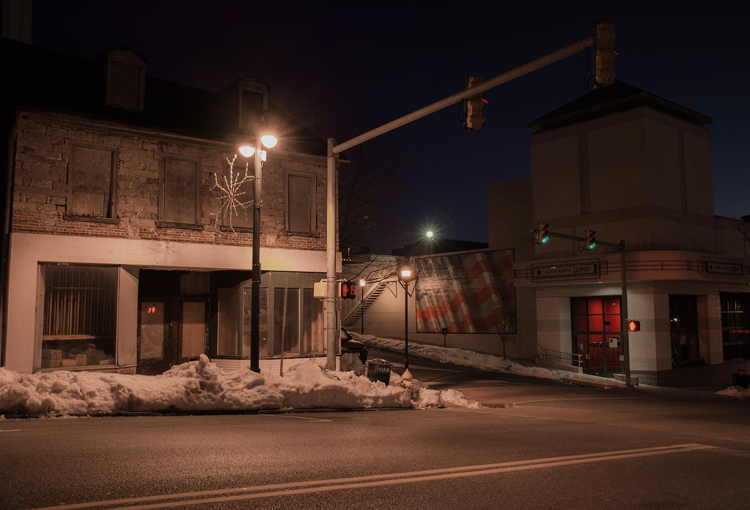 gallery,night,easton,pennslvania,dark,long exposure