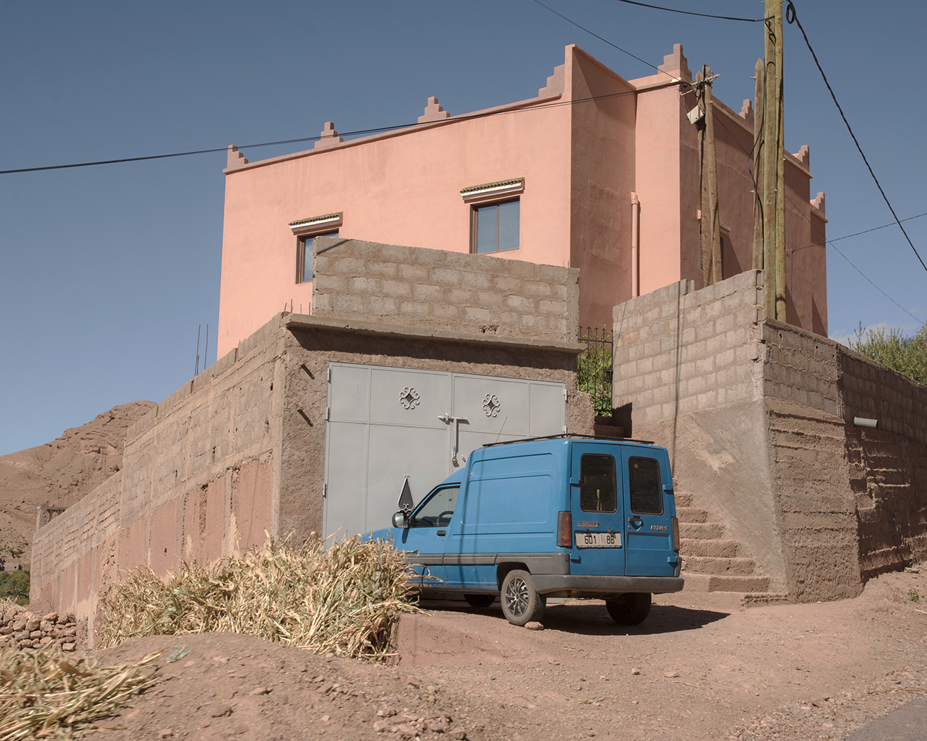 A Blue Truck in the Dades Valley