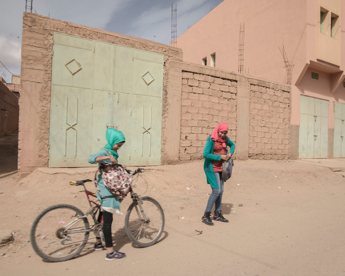 Two women in Rissani, Morocco