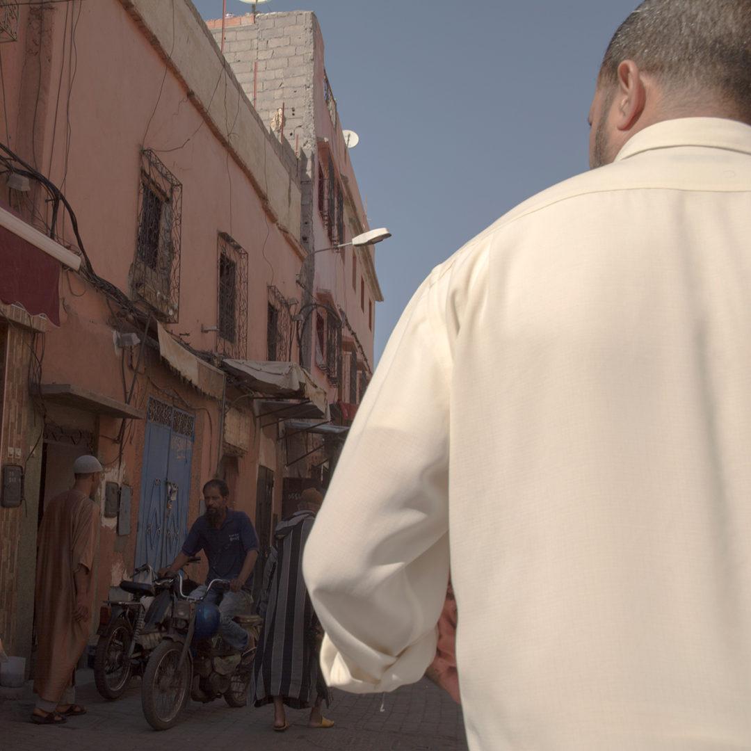 A white shirt in Marrakech