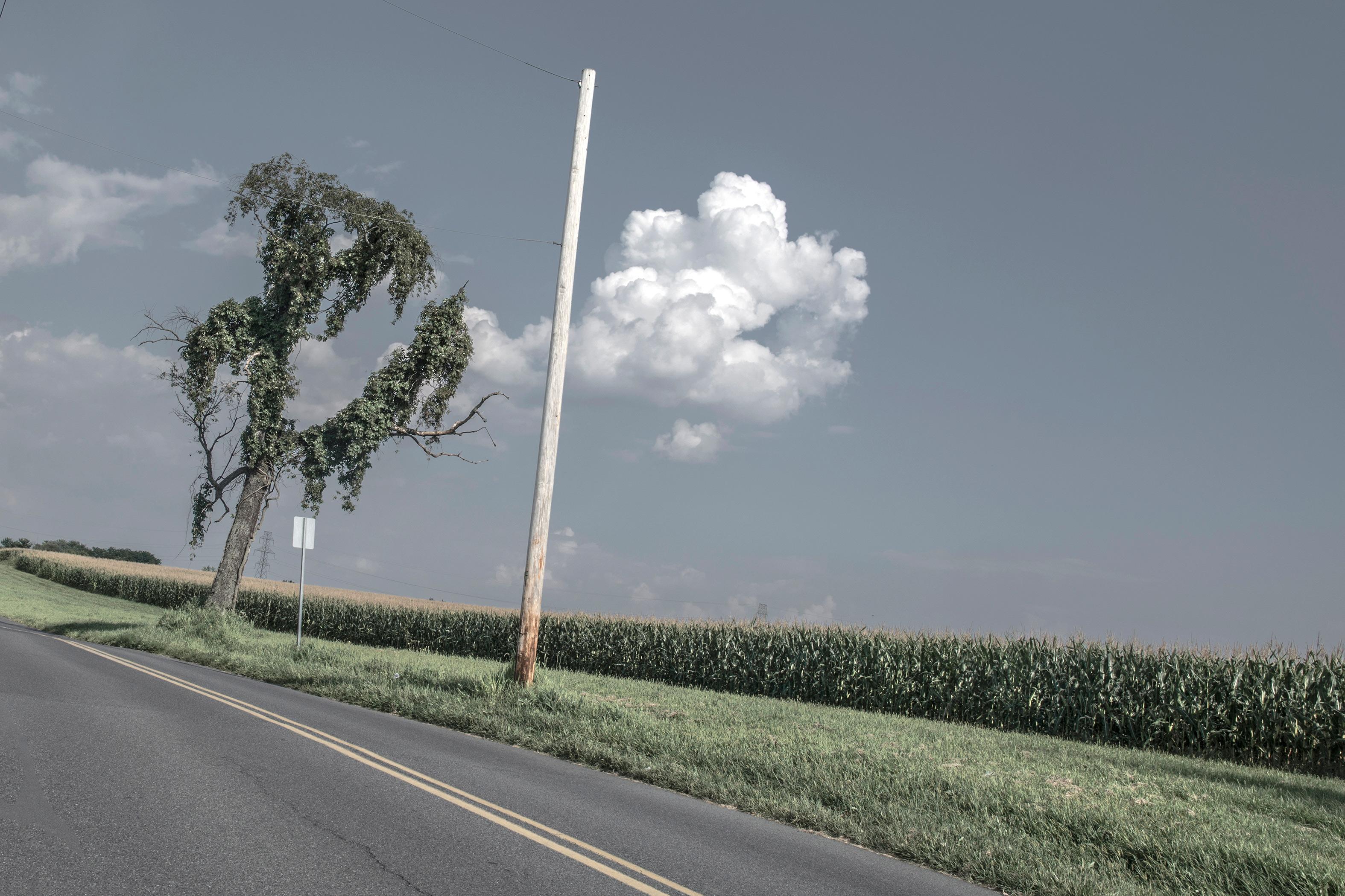 A cloud on Newburgh Road in Easton Pennsylvania
