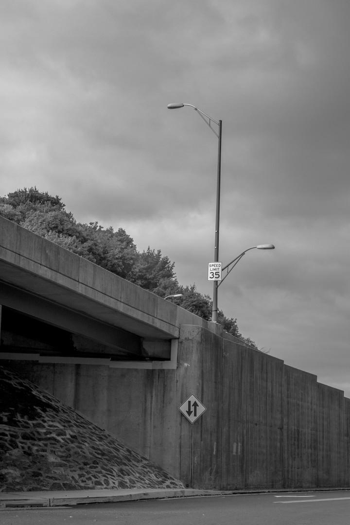 A Sign on an Easton Underpass