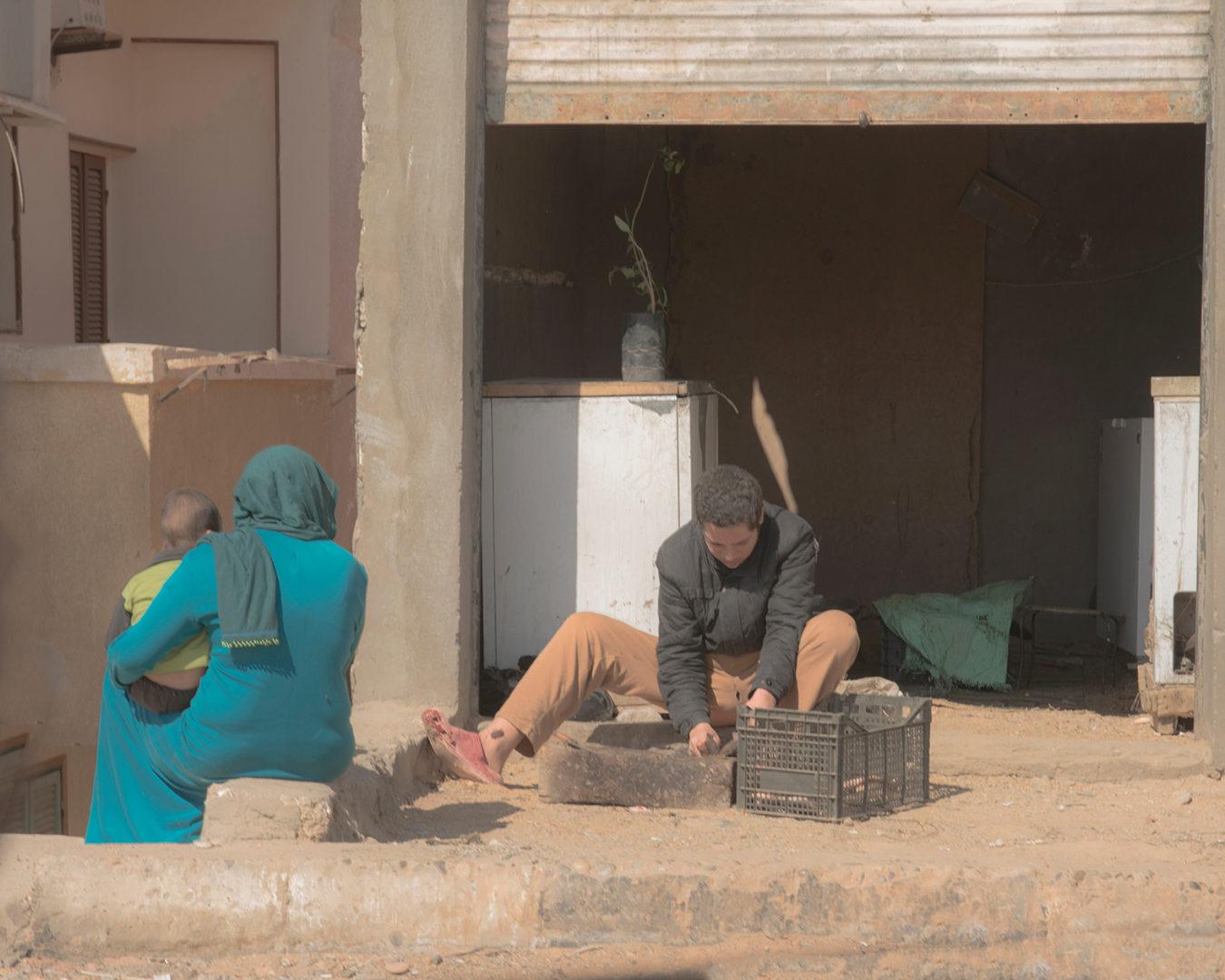 A family in Aswan