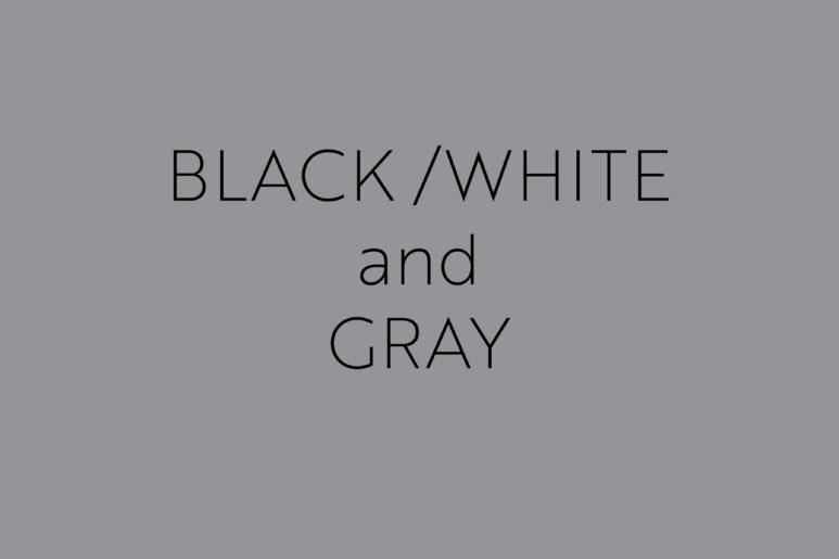 Black White Gray title page